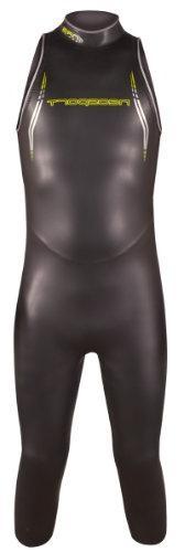 NeoSport Men's John 5/3mm Triathlon Wetsuit, Black/Lime
