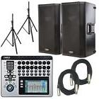 """QSC K12 12"""" Powered Speakers  with TouchMix16 Digital Mixer"""