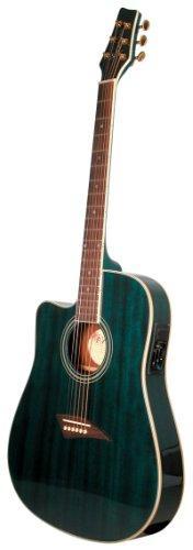 Kona K2TBL Acoustic Electric Dreadnought Cutaway Guitar in