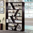 Kamloo Contemporary Style Display Zigzag Shelf Bookshelf