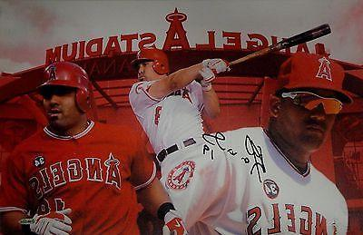 Kendrys Morales Hand Signed Autographed 13x20 Canvas Anaheim