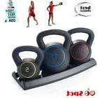 Kettle Bell Weights Set 5,10,15 lb Home Gym Exercise
