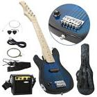"""30"""" Kids Blue Electric Guitar With Amp & Much More Guitar"""