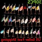 Lot 30pcs Kinds of Fishing Lures Crankbaits Hooks Spinner