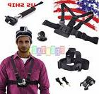 7in1 Kit Harness Head + Chest Strap Mount + Monopod For