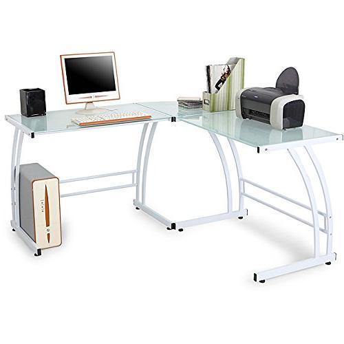 Flash Furniture L-Shaped Computer Desk with 3 Drawer