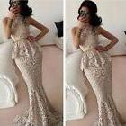 Lace Mermaid Long Formal Evening Dress Celebrity Pageant