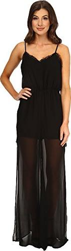 BCBGeneration Women's Lace Romper, Black, X-Small