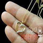 Women's Lades Gold Finish Genuine Diamond Heart Charm