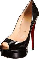 Christian Louboutin Lady Peep Platform Pumps-Black