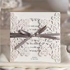 Doris Home Laser Cut Square Wedding Invitations Cards Kits