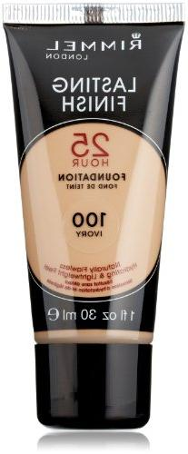Rimmel Lasting Finish 25 Hour Liquid Foundation Ivory, 1