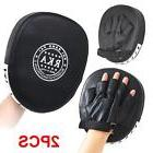 2 X Leather Boxing Mitt Training Target Focus Punch Padded