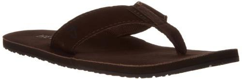 Men's Leather Smoothy Sandal, Brown, 4 M US