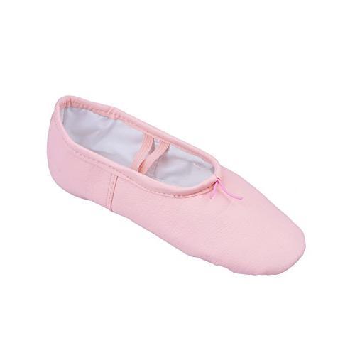 Child Leather Split-Sole Ballet Shoes,T2700CPNK09.0M,Pink,09