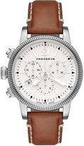 Burberry 42mm Leather-Strap Chrono Watch