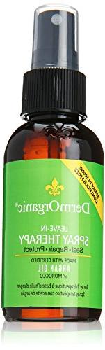 DermOrganic Leave-in Shine Spray Therapy with Argan Oil -