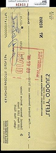 Lefty O`Doul JSA Authenticated Signed Check Autograph