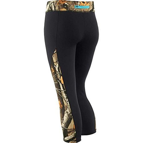 Legendary Whitetails Womens Full Range Capri Pants Black X-