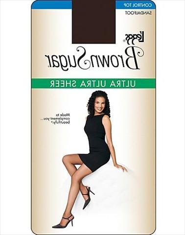 a429093a21a Leggs 74402 Brown Sugar Ultra Sheer Control Top Pantyhose 1-