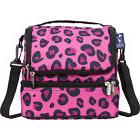 Wildkin Pink Leopard Double Decker Lunch Bag - Pink Travel