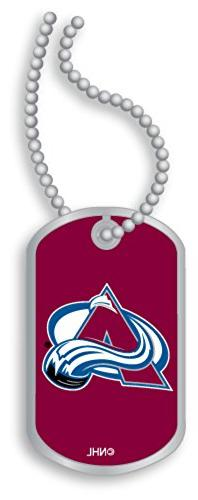 Licensed NHL Colorado Avalanche Team Logo Domed Fan Dog Tag