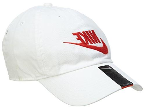 Nike Mens Nike Futura Washed H86 Adjustable Hat White/