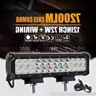 12inch 72W LED Light Bar Work SPOT FLOOD Combo Beam CREE 4WD
