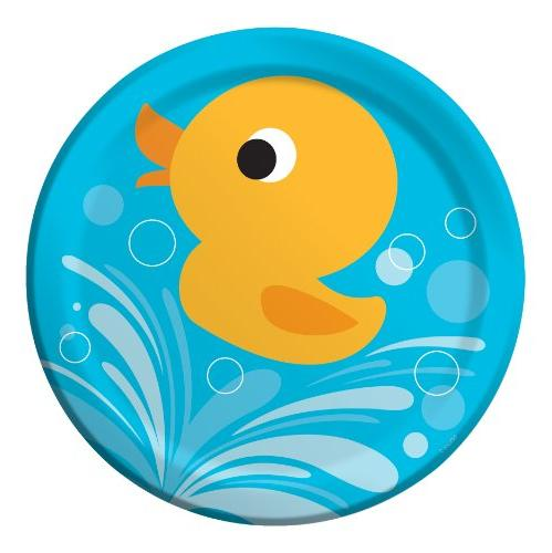 Creative Converting Lil' Quack Round Dinner Plates, 8 Count