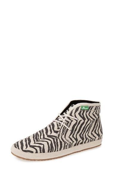 Women's Sanuk 'Savvy Anna' Linen Sneaker Zebra Size 8 M