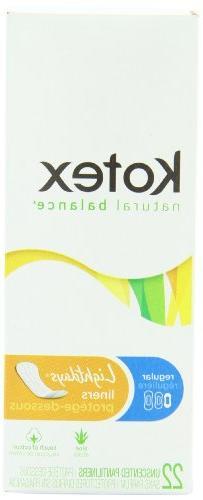 Kotex Liners, Regular, Unscented Natural Balance Lightdays,