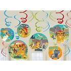 Lion Guard Hanging Party Swirl Decorations 12 count Lion King Birthday Party