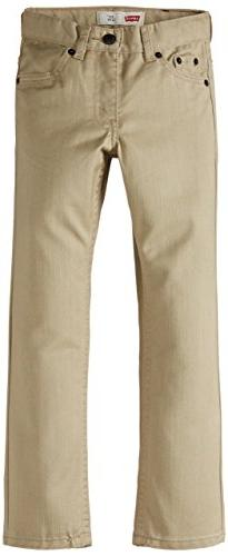 Levi's Little Boys' 511 Slim Fit Jeans, Beige,5