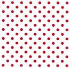 LITTLE RED POLKA DOTS HEAVY EMBOSSED GIFT WRAPPING PAPER -