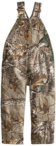 Carhartt Little Boys' Washed Camo Bib Overall, Realtree Xtra