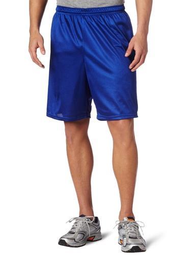 Men's Long Polyester Mini-Mesh Short, Red , Medium