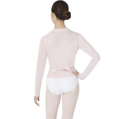 Body Wrappers Long Sleeve Wrap Sweater, Light Pink, 4-6
