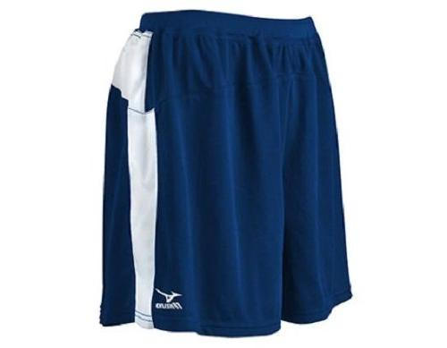 Loose Fit Volleyball Short, Navy/White, Large