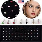 60PC Wholesale Lots Mixed Crystal Nose Ring Bone Studs Body