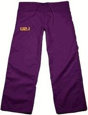 LSU Purple Scrubs Bottoms - X-Large