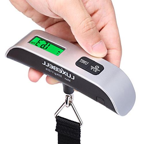 New 40KG/88lb Small Travel Luggage Scale With Free