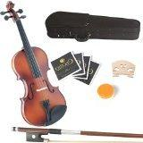 Mendini 12-Inch MA350 Satin Antique Solid Wood Viola with