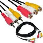 MagicW 15ft 3RCA Male to Female Audio Composite Extension