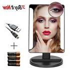 10X Magnify LED Lighted Touch Screen Vanity Mirror Makeup