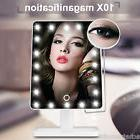 10X Magnifying 20 LED Lighted Makeup Mirror Stand Portable