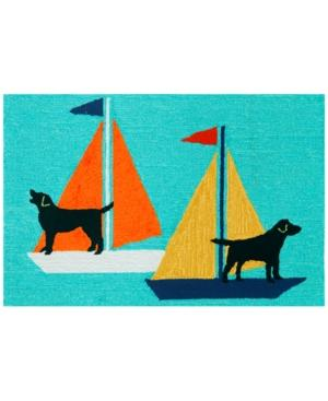 "Liora Manne Front Porch Indoor/Outdoor Sailing Dogs 2'6"" x 4"