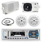 """3.5"""" Marine Box Speakers,4"""" Speakers,Black Pyle Bluetooth"""