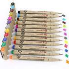 Lot 12 Colors Art Markers Manga Fine Head Sketch Drawing Pen