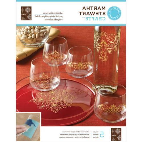 """Martha Stewart Crafts Glass Silkscreen 8-1/2""""X11""""-"""
