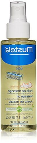 Mustela Baby Oil, Moisturizing Oil for Baby Massage, Natural